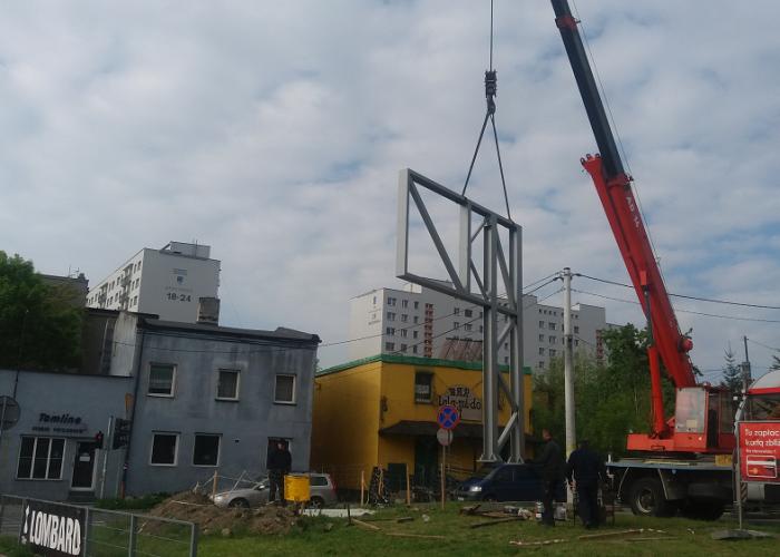 konstrukcja-stalowa-billboard-montaże-Sosnowiec